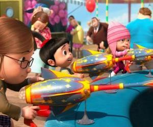 Puzle As meninas no parque de diversões