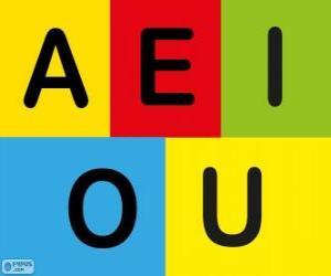 Puzle As vogais A, E, I, O, U