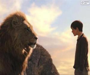 Puzle Aslan conversando com Edmund