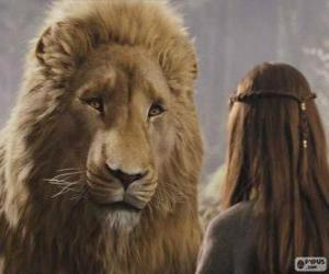 Puzle Aslan falando com Lucy