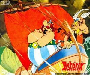 Puzle Asterix e Obelix, os dois amigos são os protagonistas das aventuras de Asterix, o Gaulês