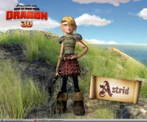Puzle Astrid Hofferson, uma jovem viking surpreendente, enérgica e competitiva