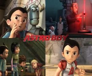 Puzle AstroBoy ou Astro Boy, com os amigos