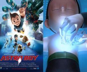 Puzle AstroBoy ou Astro Boy, um super-robô criado pelo professor Tenma à imagem de seu filho morto Toby e suas memórias