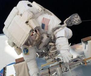Puzle Astronauta no espaço
