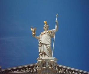 Puzle Athena, na mitologia grega a deusa da sabedoria, estratégia e guerra justa