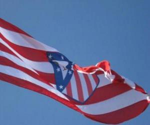 Puzle Atlético de Madrid bandeira