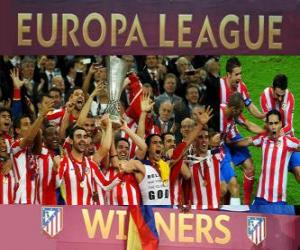 Puzle Atlético de Madrid, campeão da UEFA Europa League 2011-2012