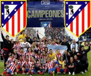 Puzle Atlético de Madrid campeão da Copa del Rey 2012-2013