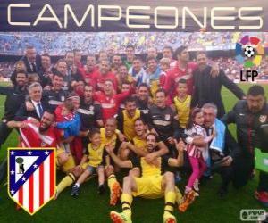 Puzle Atlético de Madrid, campeão da liga espanhola de futebol 2013-2014