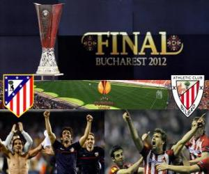 Puzle Atlético Madrid vs Athletic Bilbao. Final Europa League 2011-2012 no Estádio Nacional de Bucareste, na Roménia