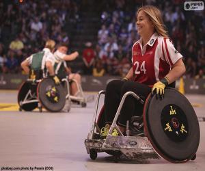 Puzle Atleta com deficiência
