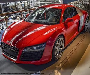 Puzle Audi R8 vermelho