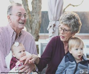 Puzle Avós com seus netos