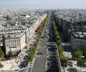 Puzle Avenida dos Campos Elísios, Paris