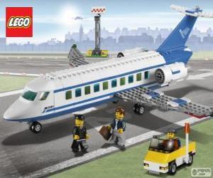 Puzle Avião de passageiros de Lego