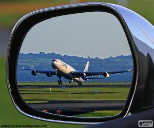 Puzle Avião decolando