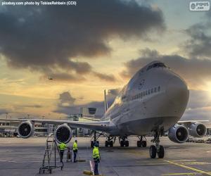 Puzle Avião no aeroporto