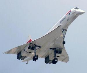 Puzle Avião a jato supersônico Concorde