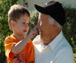 Puzle Avô com neto