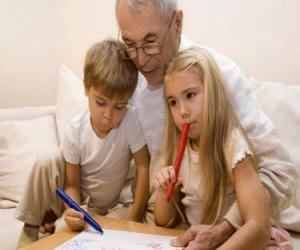 Puzle Avô com netos