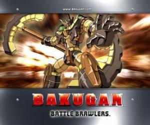 Puzle Bakugan Subterra Gorem é o guardião da Julie