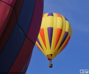 Puzle Balão de ar quente amarelo