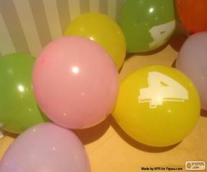 Puzle Balões com números