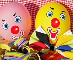 Puzle Balões de palhaço