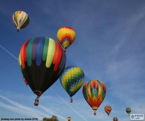 Puzle Balões no ar