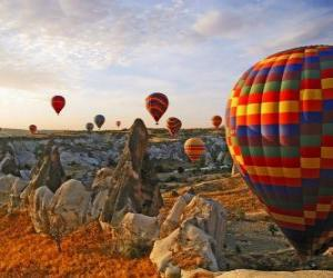 Puzle Balão na paisagem