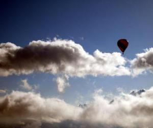 Puzle Balão nas nuvens
