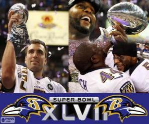 Puzle Baltimore Ravens Campeões Super Bowl 2013