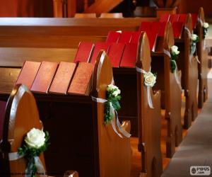 Puzle Bancos de igreja ornate