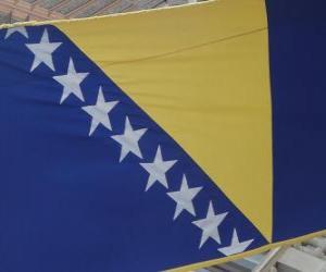 Puzle Bandeira da Bósnia e Herzegovina