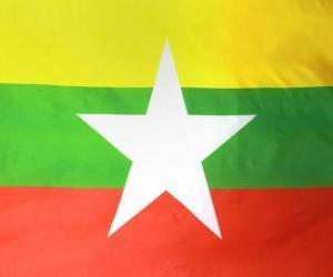 Puzle Bandeira da Birmânia