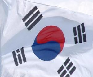Puzle Bandeira da Coreia do Sul