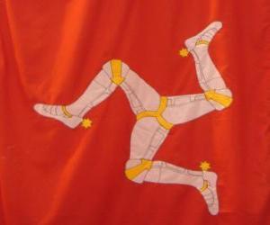 Puzle Bandeira da ilha de Man