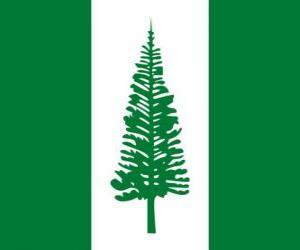 Puzle Bandeira da Ilha Norfolk