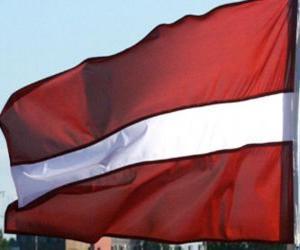 Puzle Bandeira da Letónia