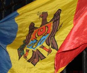 Puzle Bandeira da Moldávia