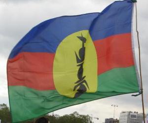 Puzle Bandeira da Nova Caledónia