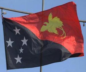 Puzle Bandeira da Papua-Nova Guiné