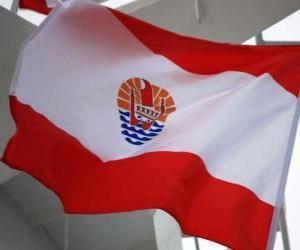 Puzle Bandeira da Polinésia francesa