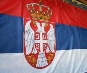 Puzle Bandeira da Sérvia