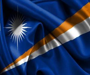Puzle Bandeira das Ilhas Marshall