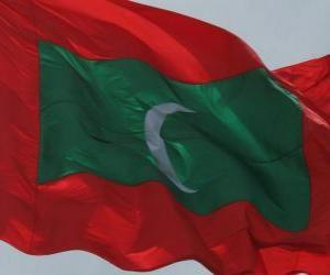 Puzle Bandeira das Maldivas