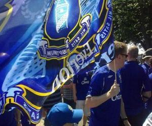 Puzle Bandeira de Everton F.C.