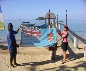 Puzle Bandeira de Fiji ou Fidji