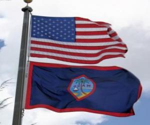 Puzle Bandeira de Guam